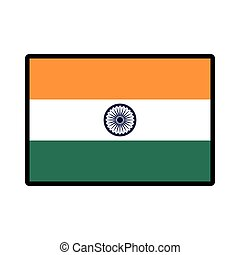 Flag icon. Indian Culture design. Vector graphic