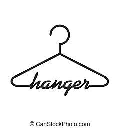 hook icon. Hanger object design. Vector graphic - Hanger...