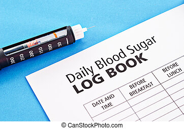 Insulin injection pen. - Insulin injection pen with daily...