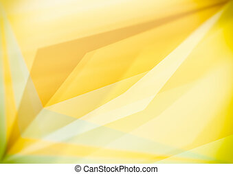 Triangular shapes, yellow geometric abstract background