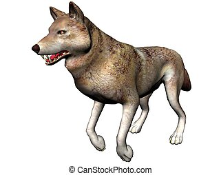 Wolf - A wolf rendered with Bryce 6