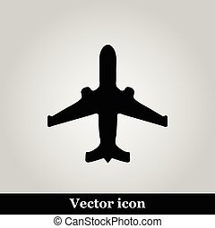 Black plane modern web icon