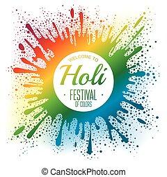 Holi festival poster. Vector illustration