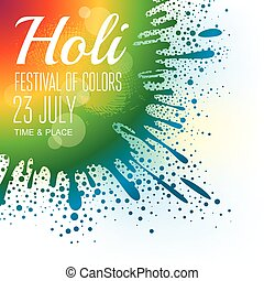 Holi festival poster. Eps10 vector illustration