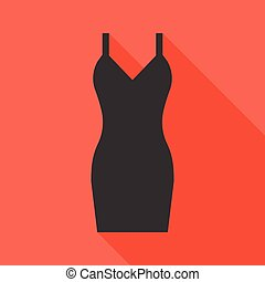 Vector sexy black dress icon