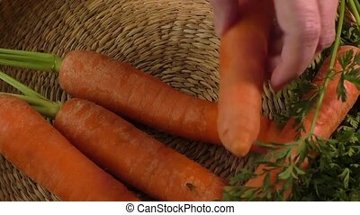 Fresh peeled carrots - Fresh garden carrots and fresh peeled...