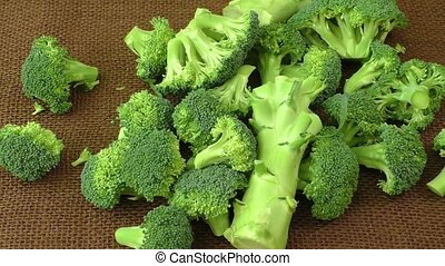 Fresh broccoli on the table