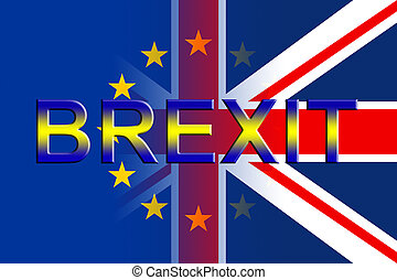 Brexit Flags Indicates Britain Europe And England