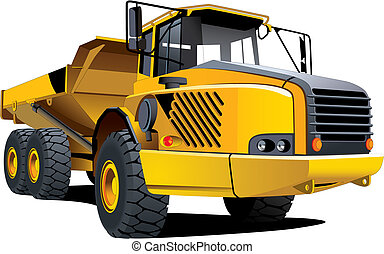 Yellow dumper - Detailed vectorial image of yellow dumper...