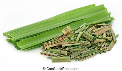 Lemongrass over white background