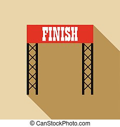 Finish line icon in flat style