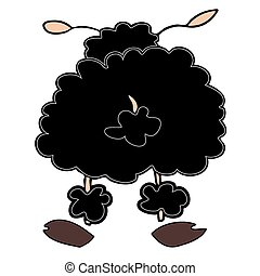 Black sheep. - Illustration of a Black sheep.