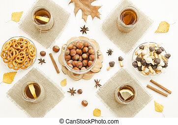 Tea Party. Autumn Still Life.