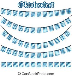 different Oktoberfest garlands - Oktoberfest garlands having...