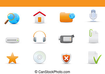 icon set - Vector illustration u2013 set of elegant simple...