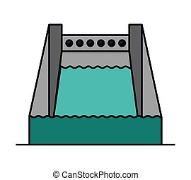 hydropower isolated icon design, vector illustration graphic...