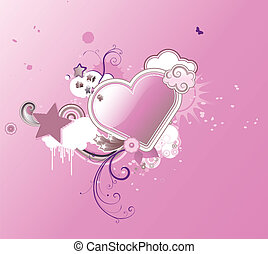 heart shape - Vector illustration of Valentines abstract...