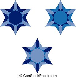 david star blue symbol icon sign design