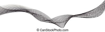 Abstract grey wave isolated on white background....