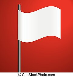 white flag on red background defeat symbol