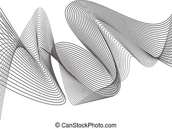 Abstract grey wave isolated on white background. Vector...