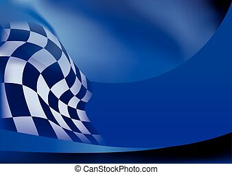 race flag  background vector illustration