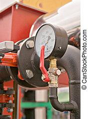 pressure meter - Closeup of pressure meter