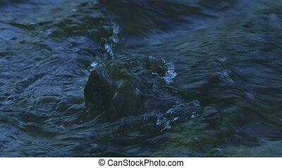Stone in Mountain River, Creek,