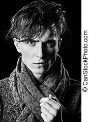 modern man - Portrait of a handsome young man with stylish...
