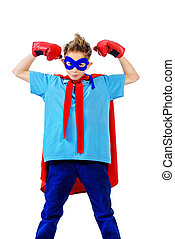 knowledge is power - A boy teenager in a costume of...