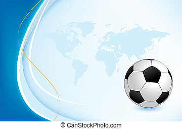 Background with Soccer Ball - Background with a soccer ball...