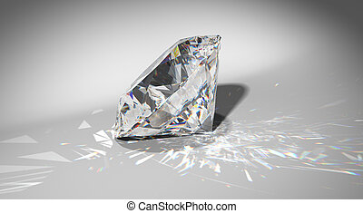 One large diamond with sparkles over gradient background