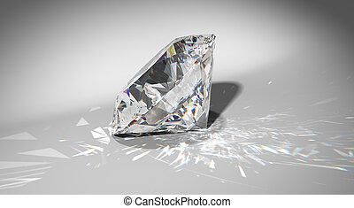 grande, chispea, diamante, Uno