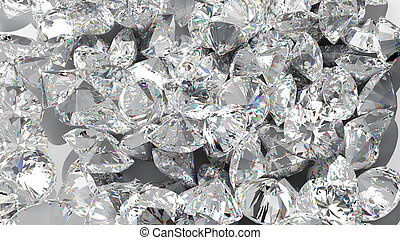 Diamond background. Large group of Jewels. Extralarge...