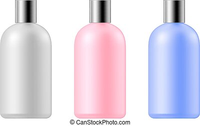Cosmetic bottle set - RGB vector illustration - created with...