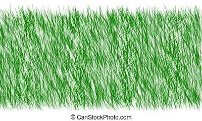 green grass swing