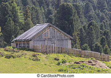 old barn in the mountain