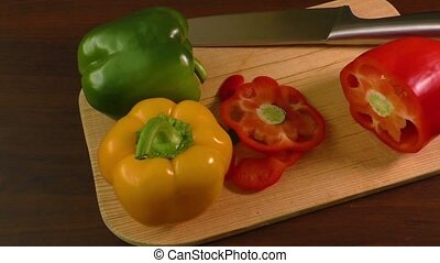 Cutting and preparing bell peppers