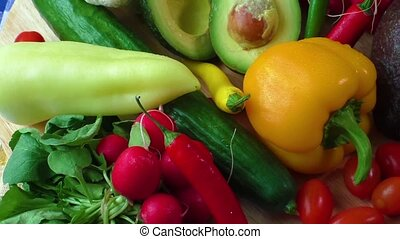 Organic vegetables - Still life with various fresh organic...