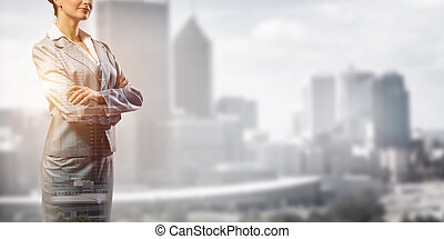 Confident business leader - Close up of businesswoman with...
