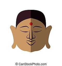 Buddha icon. Indian Culture design. Vector graphic - Indian...