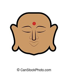 Buddha icon Indian Culture design Vector graphic - Indian...
