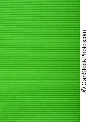 Crinkled cardboard background - Close up of green crinkled...