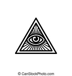 All seeing eye symbol - Masonic symbol, All Seeing Eye...