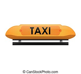 Taxi text icon. Public service. Vector graphic - Public...