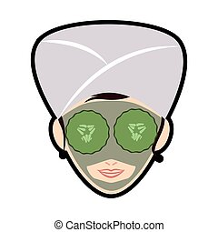 Woman cartoon icon. Spa center design. Vector graphic - Spa...