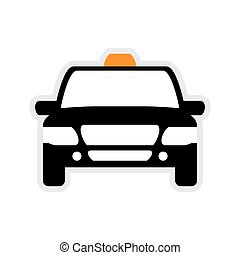 Taxi car icon. Public service. Vector graphic - Public...