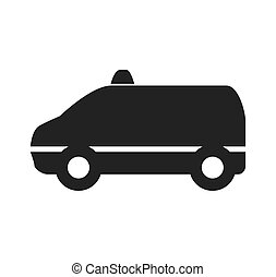 Taxi car icon. Public service design. Vector graphic -...