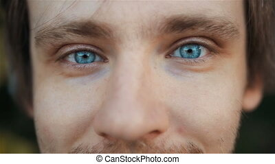 Highly Detailed Close-Up Portrait of Handsome Man With...