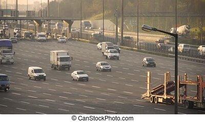 Traffic on busy motorway - Istanbul, Turkey, Traffic on busy...